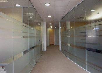 Glass Walls Partitioning Office And